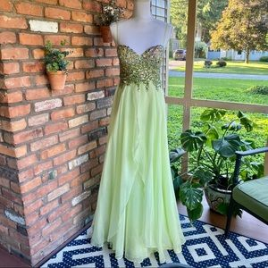 Dave & Johnny Jeweled Prom Dress